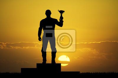motorcyclist on the podium