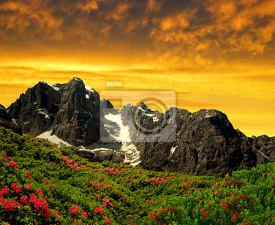 Mountain Brenta in the sunset - Dolomites Italy