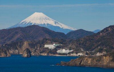 Wall mural Mountain Fuji and sea from Izu city Shizuoka prefecture , Japan .