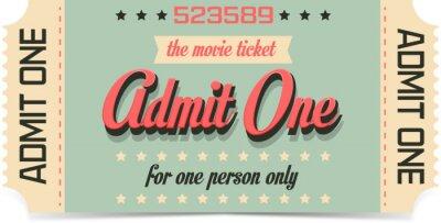 Wall mural Movie ticket
