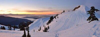 Wall mural Mt. Seymour First Pump Peak winter sunrise, Vancouve