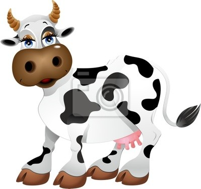 Wall mural MUCC Cartoon - Cartoon - Cow Vector