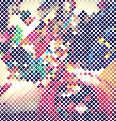 Wall mural multicolor abstract light disco background vector eps 10