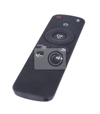 multimediaremote control isolated on white
