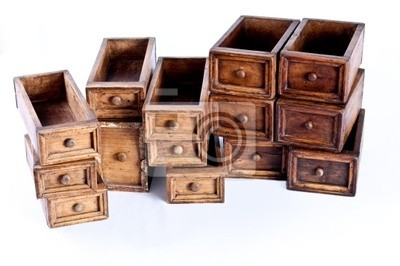 multiple chest wood drawers stacked one above another