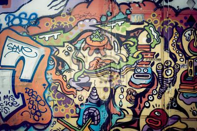 Wall mural Mur de graf coloré
