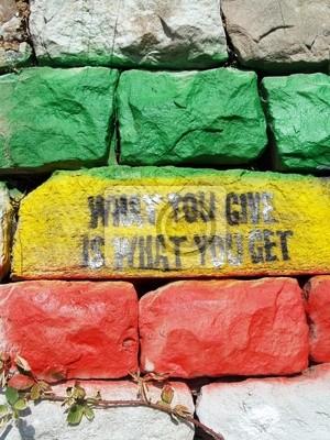 Wall mural mur et aphorisme