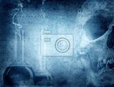 Mystery and alchemy background.
