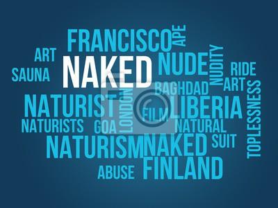 Wall mural naked