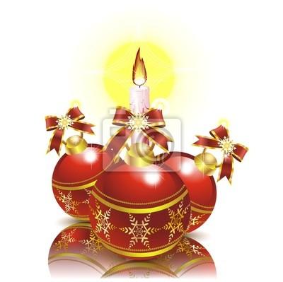 Natale Accessori e Candela-Christmas Ornaments and Candle