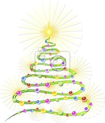Natale Albero Astratto-Christmas Tree Abstract-Vector