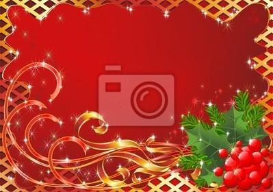 Natale Cartolina Auguri-Christmas Greeting Card-Vector