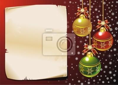 Natale Cartolina di Auguri-Merry Christmas Card-Vector