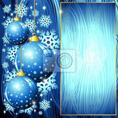 Natale Sfondo Addobbi Blu-Christmas Blue Ornaments Background