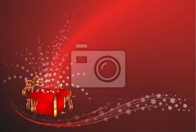 Natale Sfondo con Regalo-Christmas Gift Background-Vector