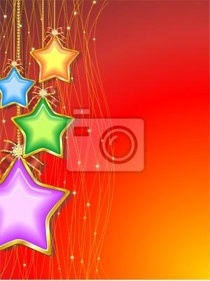 Natale Sfondo di Stelle Colorate-Christmas Stars Background-3