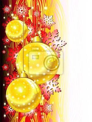 Natale Sfondo Oro Rosso-Christmas Red & Golden Background