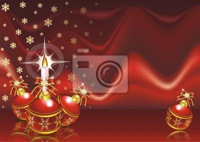 Natale Sfondo Tessuto Rosso-Red Christmas Background