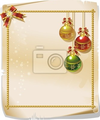 Natale su Pergamena-Christmas Parchment Background-Vector