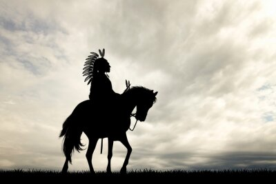 Wall mural Native Indian on horse