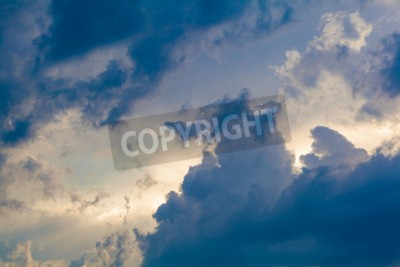 Wall mural Natural background of the sky and clouds