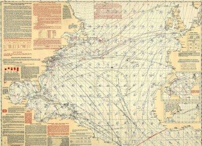 Nautical vintage map