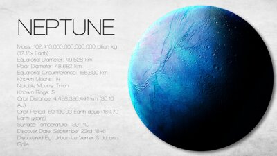 Wall mural Neptune - High resolution Infographic presents one of the solar
