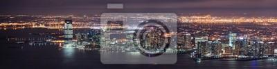 New Jersey night Panorama from New York City Manhattan