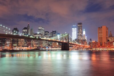 Wall mural New York City Brooklyn Bridge