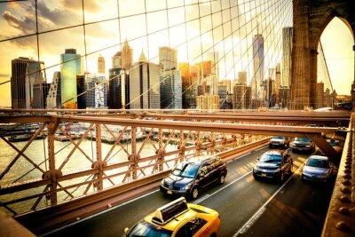 Wall mural New York City, Brooklyn Bridge skyline