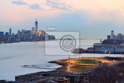 New York City downtown sunset