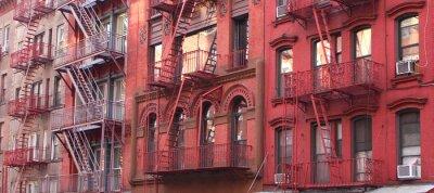 Wall mural New York City / Fire escape