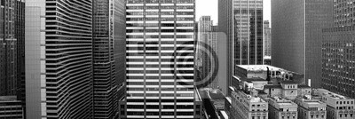 Wall mural New York City in black and white