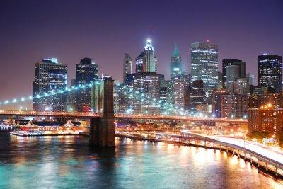 New York City Manhattan and Brooklyn Bridge