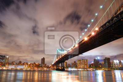 New York City Manhattan Bridge over Hudson River