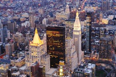 New York City Manhattan downtown