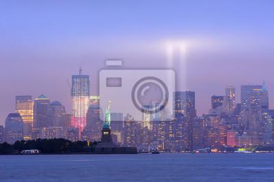 New York City Manhattan downtown night