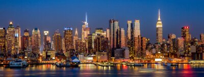 Wall mural New York City Manhattan midtown buildings skyline night