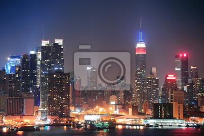 New York City Manhattan midtown skyline