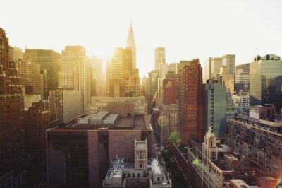 Wall mural New York City Manhattan skyline view at sunshine.