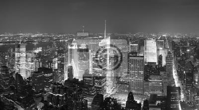 New York City Manhattan Times Square skyline aerial view panoram