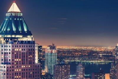 Wall mural New York City skyline at night