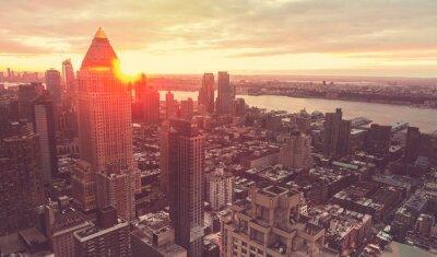 Wall mural New York City skyline at sunset