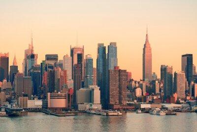 Wall mural New York City sunset