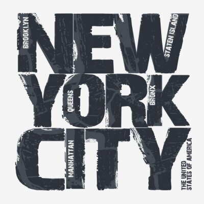 Wall mural New York City Typography design