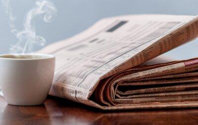 Wall mural Newspaper and coffee