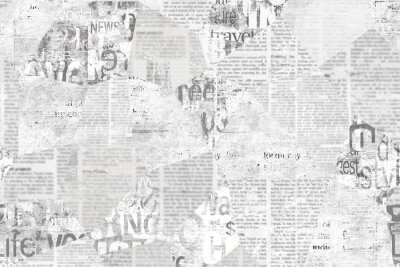 Wall mural Newspaper paper grunge vintage old aged texture background