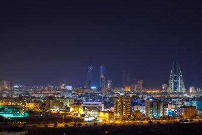 Wall mural Night skyline of Manama, the Capital city of Bahrain