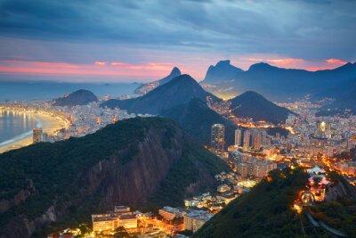 Wall mural Night view of Rio de Janeiro, Brazil