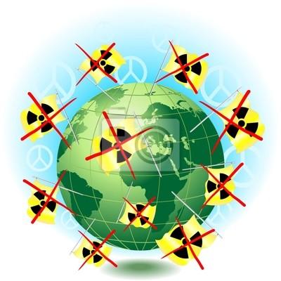 No Nucleare Mondo di Pace-No Nuclear World-Vector